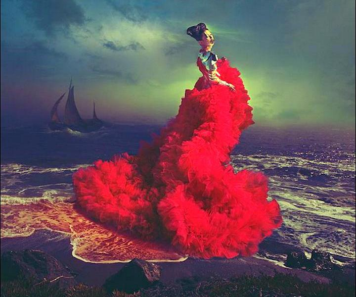 Песнь Скарлет. Фэшн-фотографии от Натальи Дубиц
