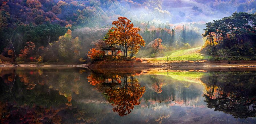 Прибытие в рай. Пейзажные фотографии с отражением