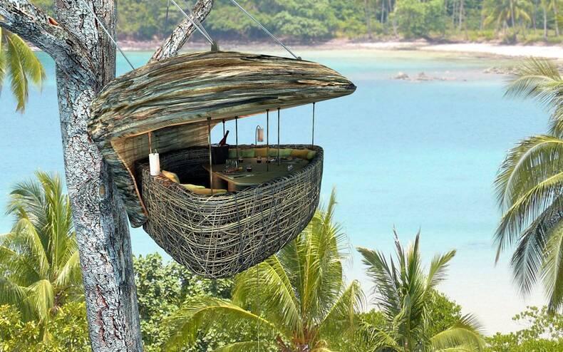 Ресторан Dining Pod на деревьях