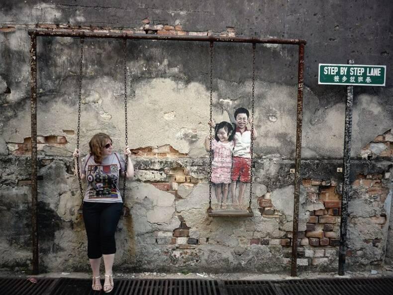 Стрит-арт в городе Джорджтаун