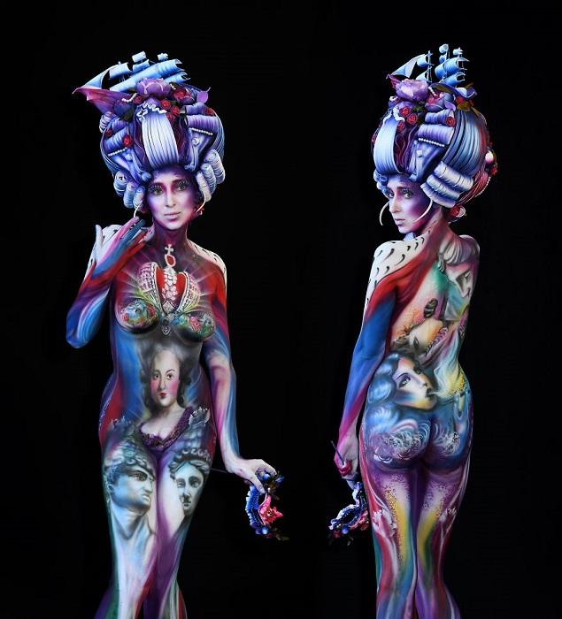В некоторых категориях мастерам предоставлялось время до 2-х дней, чтобы разрисовать моделей и полностью создать образ.
