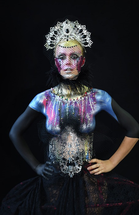 Все работы, представленные жюри Всемирного фестиваля бодиартинга, были яркими и оригинальными.