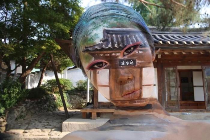 13 завораживающих оптических боди-арт иллюзий от художника Дайн Юна