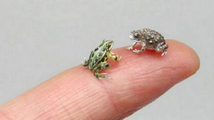 Биологически точные скульптуры животных размером меньше ногтя