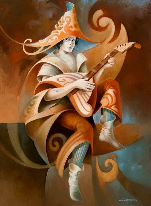 Музыкант. Автор: Jean Claude Desplanques.