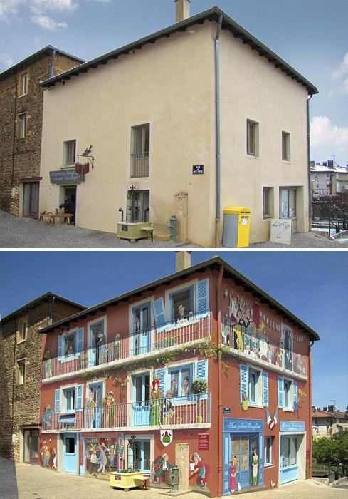 Patrick Commecy Преображение скучного дома. | Фото: boredpanda.com.