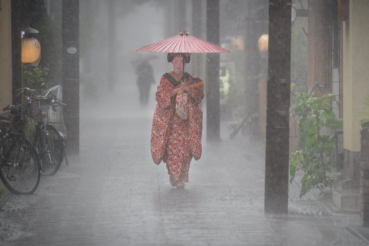 Ученица гейши в Киото, Япония. Автор: Патрик Хохнер.