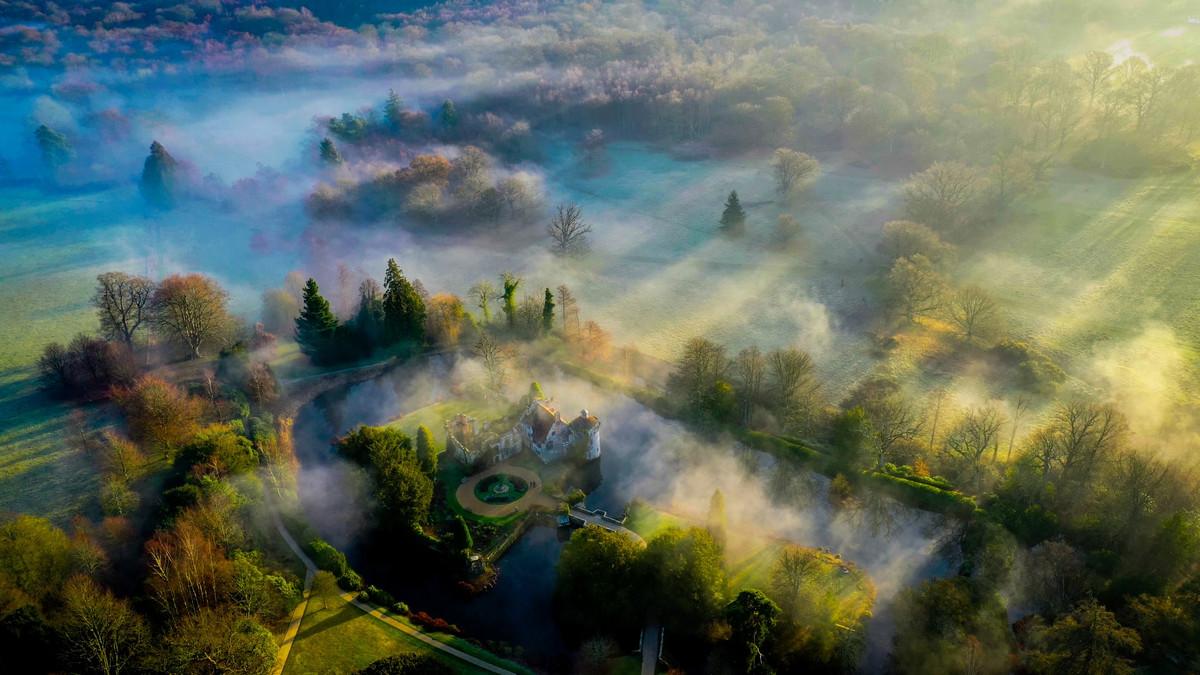 Утренние тени. Кент, Великобритания. Автор: Крис Браун.