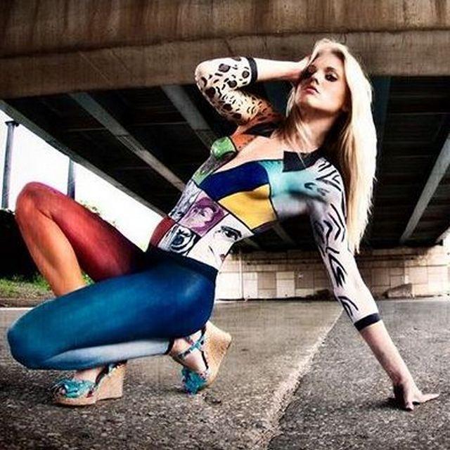 Вогнали в краску: нарисованная одежда