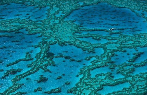 Красоты Земли с высоты - Большой барьерный риф, Австралия