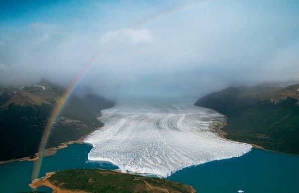 Красоты Земли с высоты - Ледник в Аргентине