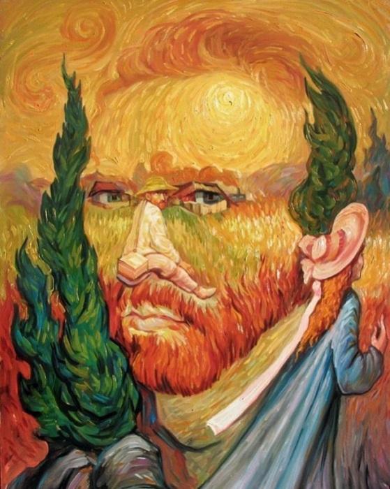 Образ Ван Гога. Оптическая иллюзия.