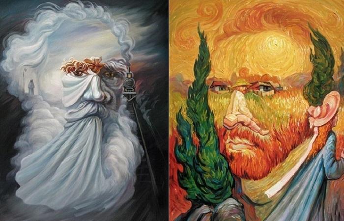 Оптические иллюзии от Олега Шупляка.