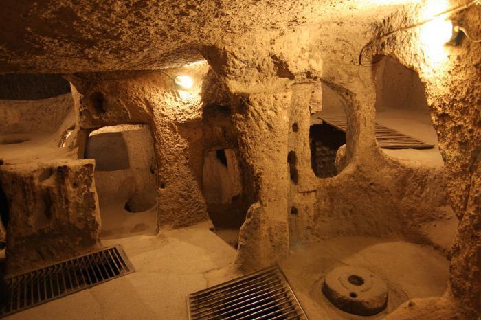 Подземное помещение города Деринкую (Турция). | Фото: syl.ru.