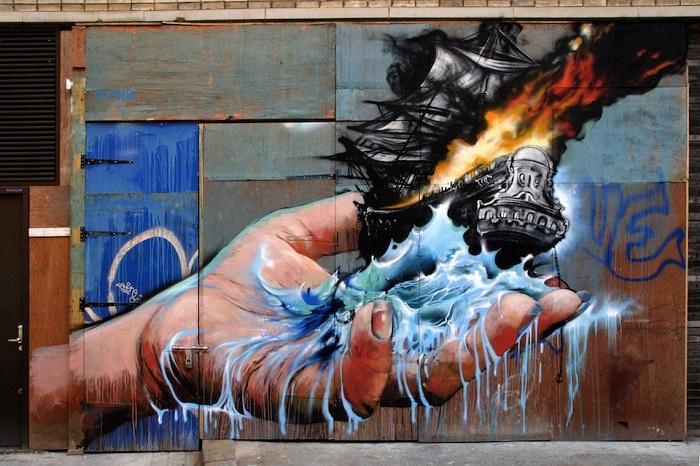 Стрит-арт в Нью-Йорке, автор Jim Vision.